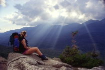 Backpacker on Imp Face, White Mountains, NH