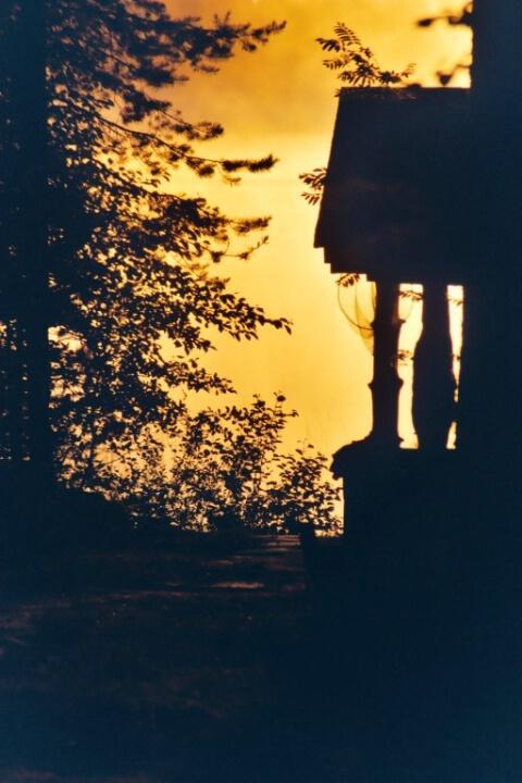 Silhoutette of a smoke sauna