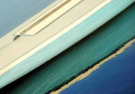Boat Abstract in Blue