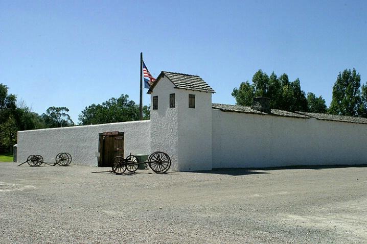 Replica of Fort Hall. - ID: 549579 © Donald E. Chamberlain