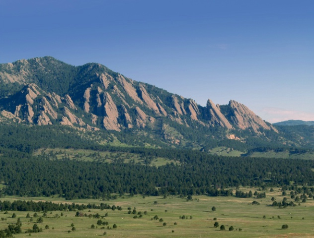 Morning Light on the Flatirons