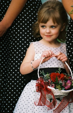Polka Dot Flower Girl