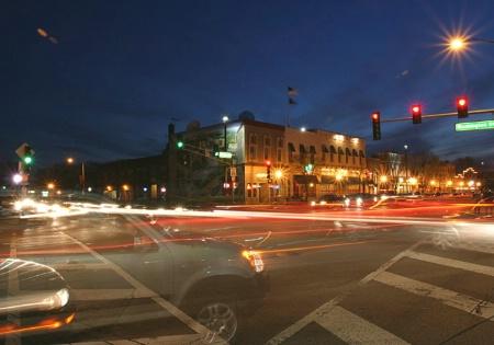 Naperville, IL Street at Night 5546