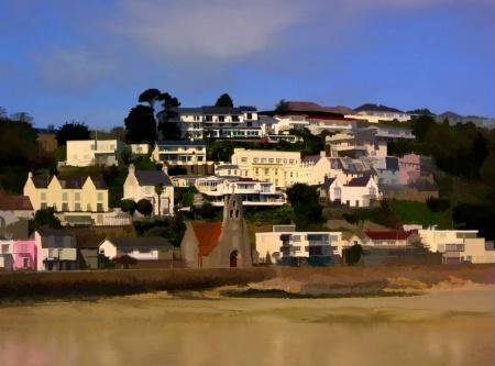 An Artistic View of St Aubin's Bay, Jersey.