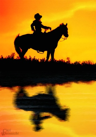 Cowgirl Sunset