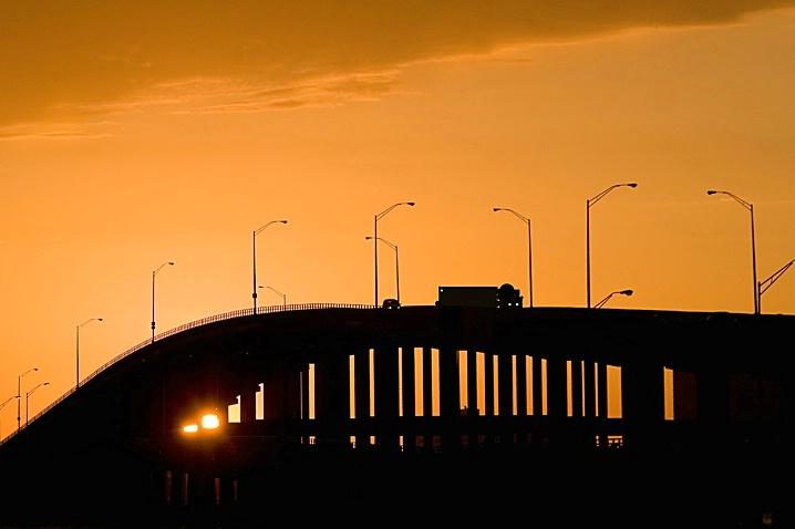 Causeway Sunset - ID: 973006 © Wendy M. Amdahl