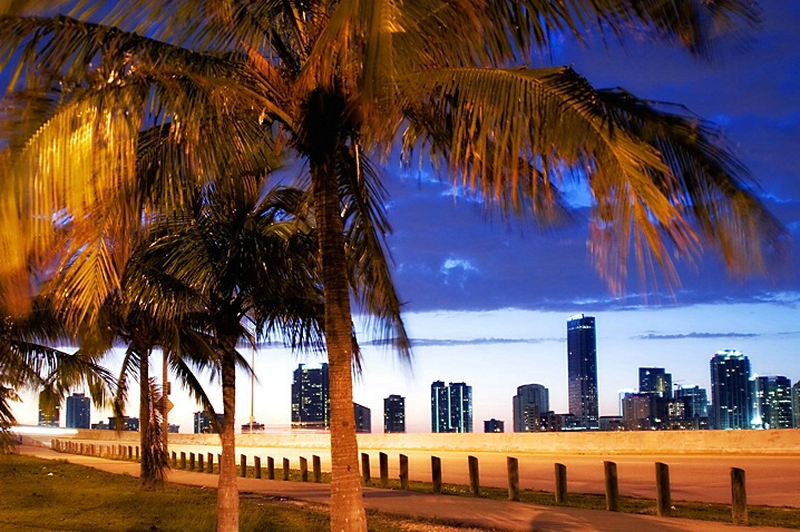 Miami Skyline at Dusk 3 - ID: 973239 © Wendy M. Amdahl