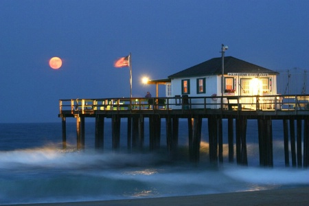 Moonrise Over the Pier