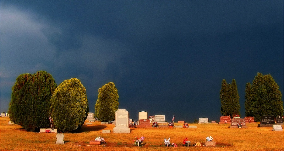 Graveyard and Stormy Sky