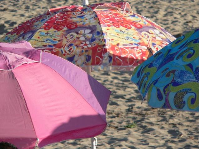 Umbrellas Before