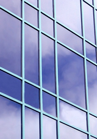 Lines and Cloud Reflections