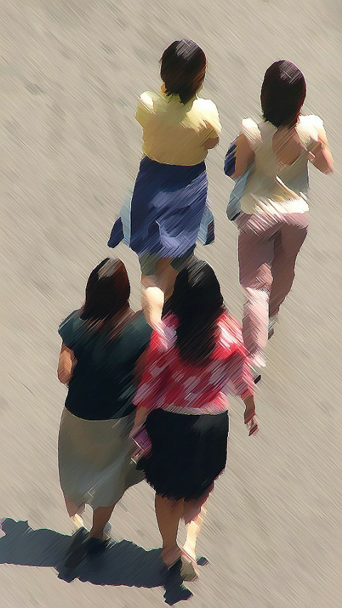 Four Ladies in a Hurry
