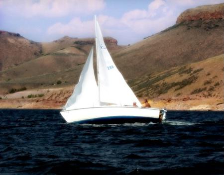 ~~Sailing Blue Mesa Resevoir~~