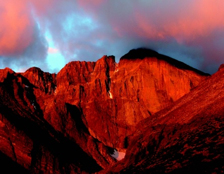 East Face, Longs Peak, Dawn