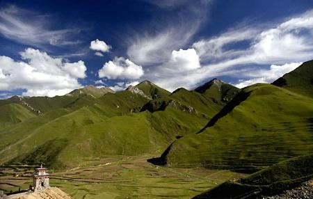 A Tibet Landscape View