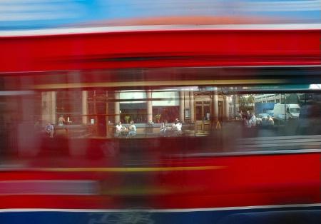 Through the windows of a London Bus