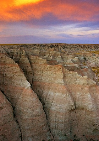 The Badlands After Sunset