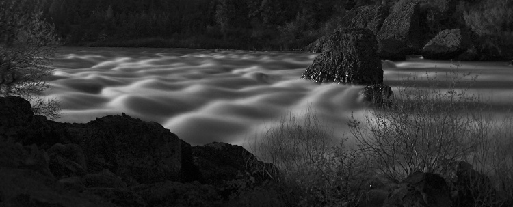Spokane River Moonrise