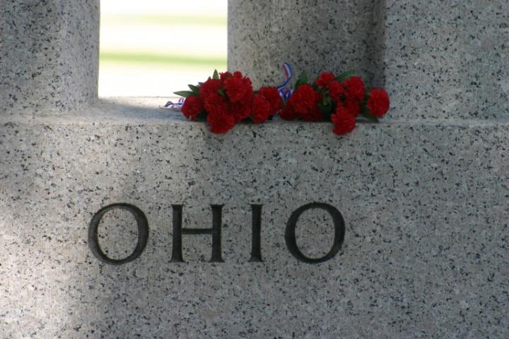 World War II Memorial, state of Ohio