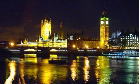 Nightime in London