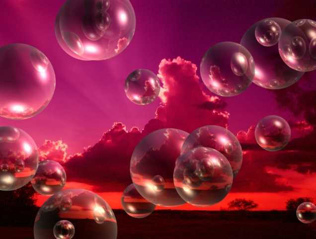 Red and Bubblely