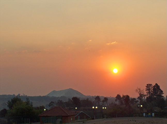 Sunset over the mine