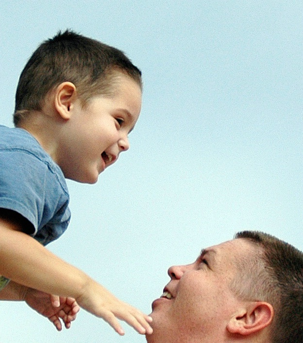 Father and Son, love and joy