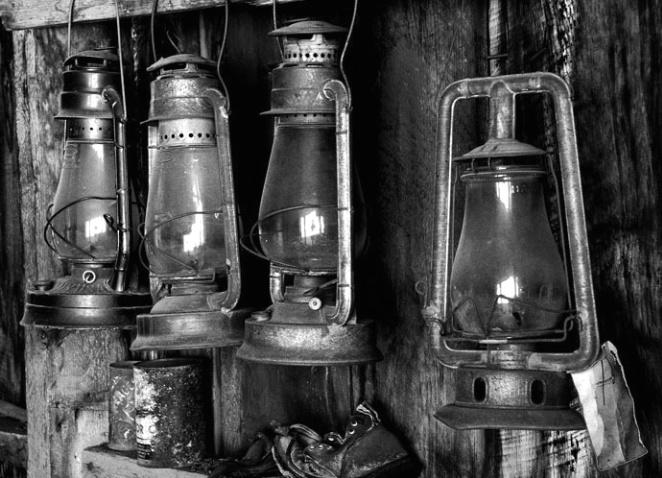 Lanterns in Bodie - ID: 1315012 © Brian d. Reed