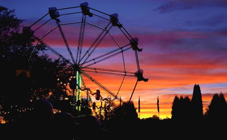Sunset at Conneaut Lake Park