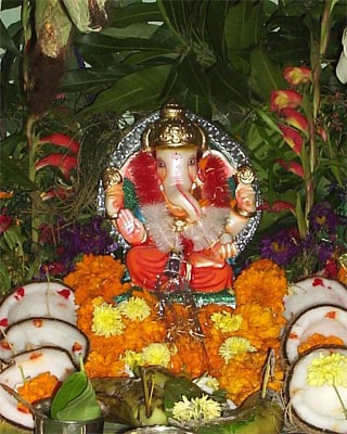 Colorful Ganesh At Home