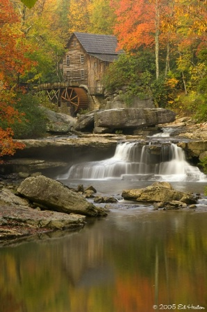 Reflections at Glade Creek Grist Mill