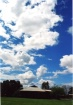 blue sky over the...