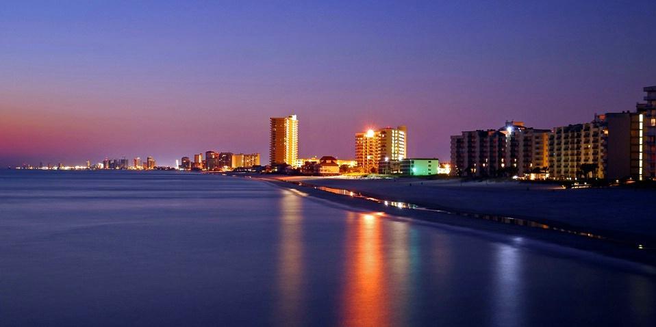 Nightfall at Panama City Beach