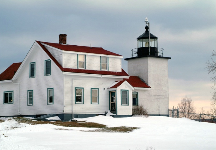 Fort Point Light Winter