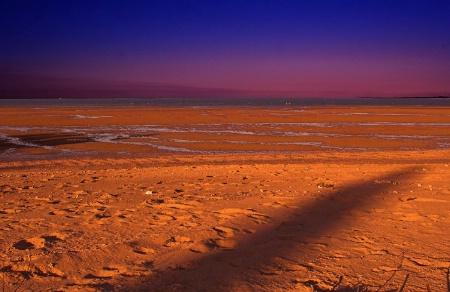 Low Tide,Long Shadows and Sunset. jpg.