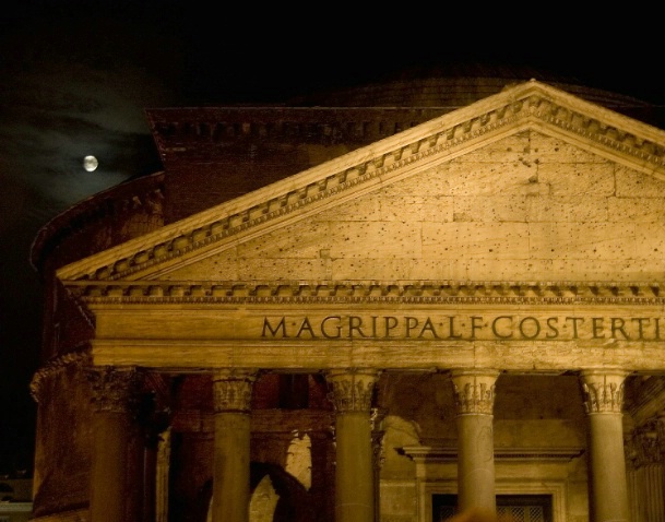Moon Rise Over Rome - ID: 1587436 © Robert A. Eck