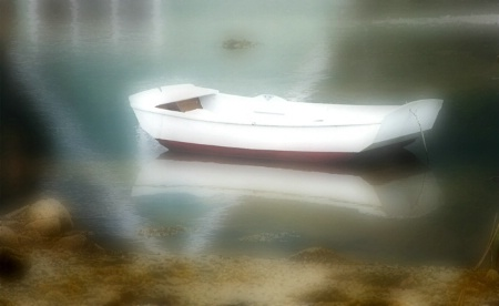 Dinghie and Shore, Maine, 2005