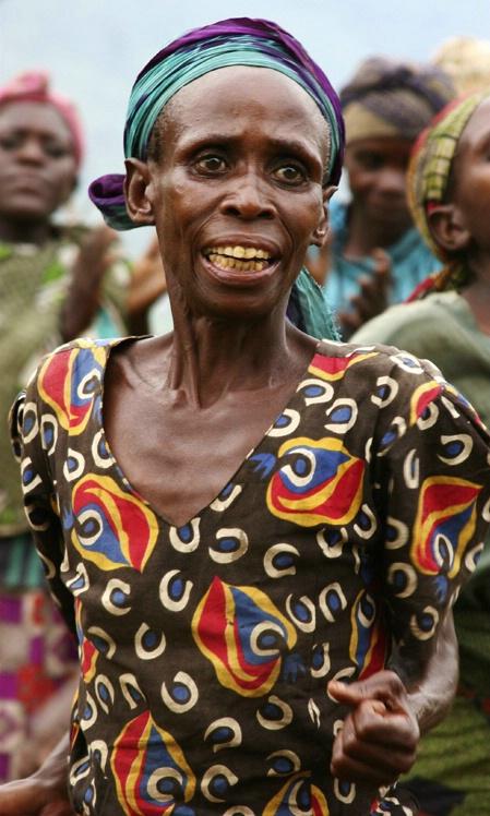Passion: Batwa Pygmy leader, outside Bwindi