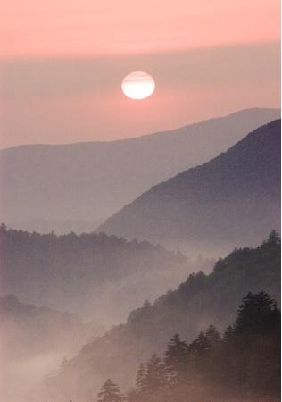 Sunset, Morton Overlook, Smoky Mountains, TN