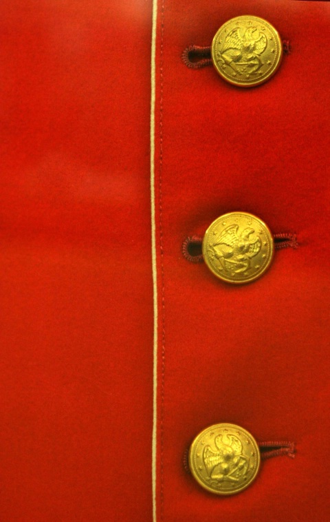 Red Coat & Brass Buttons