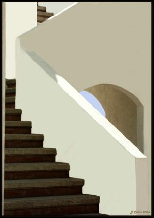 Pared Y Escaleras Blancas En Tijuana *