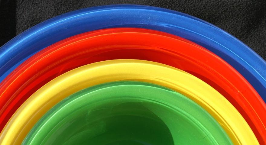 Pyrex Rainbow