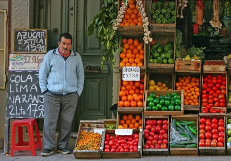 Selling fruits and vegetables is tough