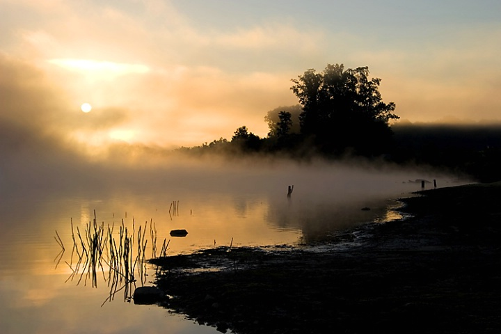 Misty Morning at Chambers Lake