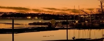 Sunset on the Port of Tacoma