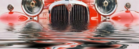 The Drowning Red Car
