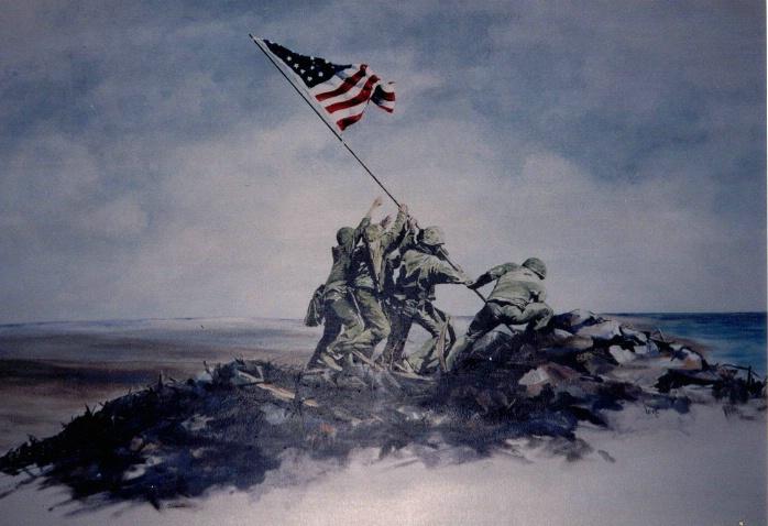 The Raising of the Flag at Iwo Jima - ID: 1810046 © Lena P. Ennis