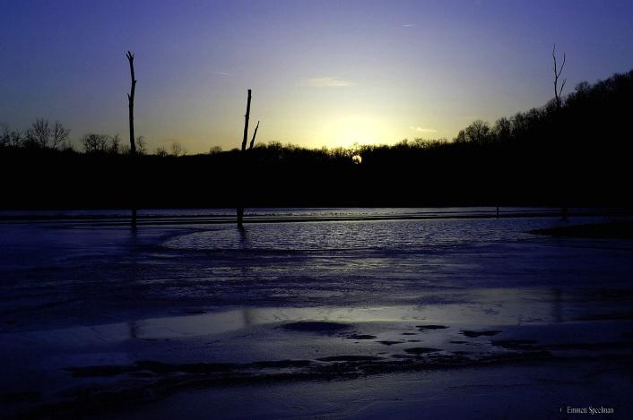Sunset on Conamaugh Lake