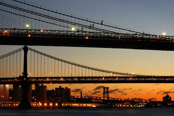 Brooklyn & Manhattan Bridges, New York, USA