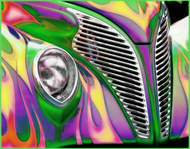 Colorful Old Ford